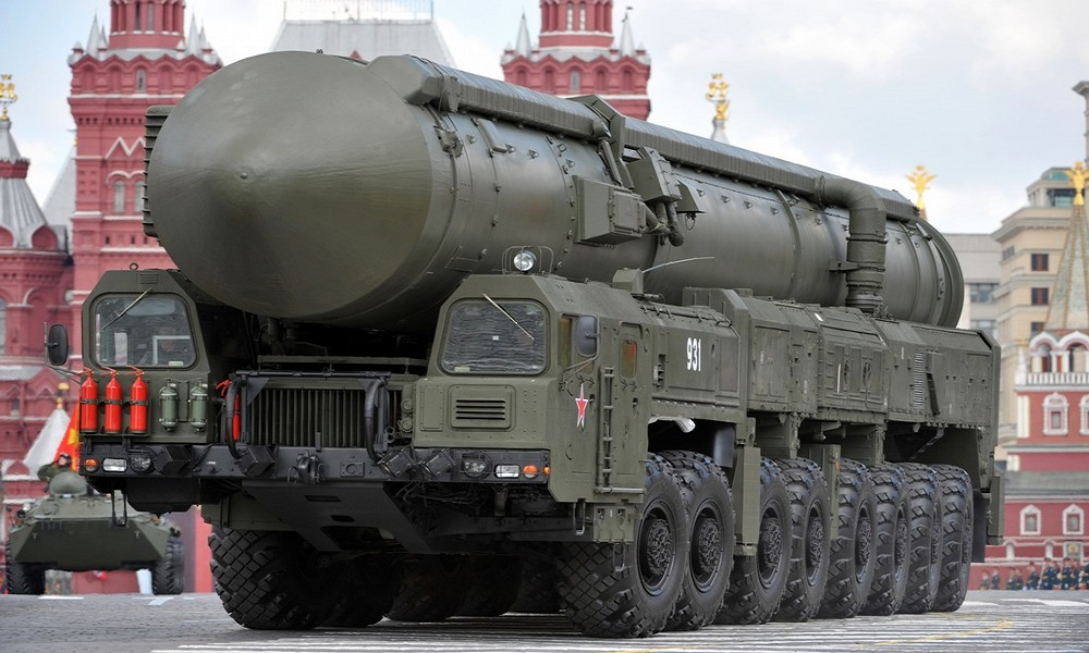 A Russian Topol-M intercontinental ballistic missile drives through Red Square during the nation's Victory Day military parade in Moscow on May 9, 2011 in commemoration of the end of WWII. Russia was due Monday to march 20,000 soldiers and its most advanced missiles across Red Square in a parade marking victory in World War II and reinforcing the country's belief in its Soviet-era might.AFP PHOTO (Photo credit should read DMITRY KOSTYUKOV/AFP/Getty Images)
